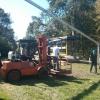 Zeltaufbau
